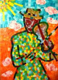 Fiddler mosaic by Gökşen Parlatan