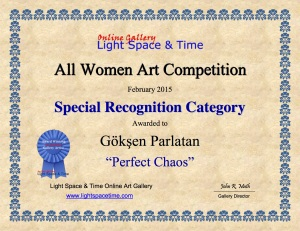 SR - Parlatan - ALL WOMEN 2015 ART COMPETITION CERTIFICATE