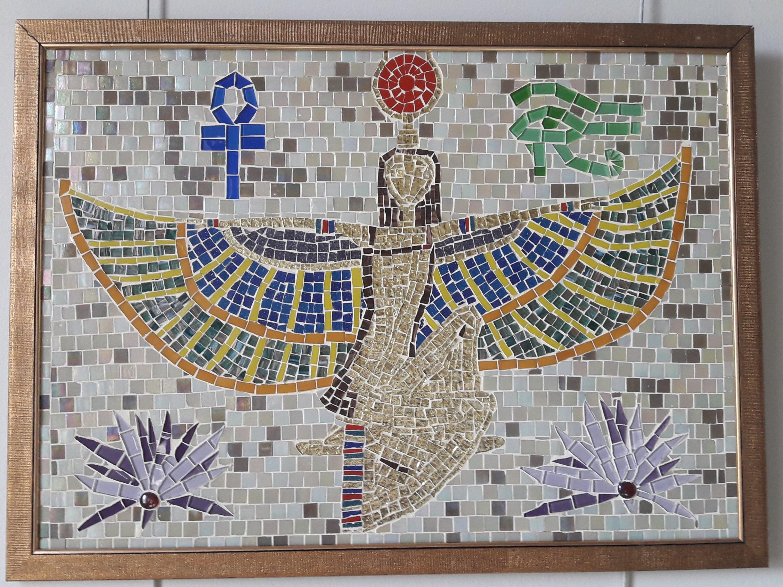 Tanrıça Isis mozaik